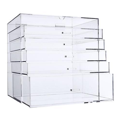 acrylic cosmetic jewelry storage makeup organizer removable drawer