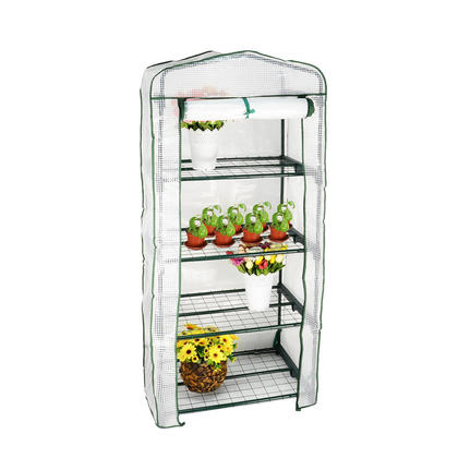 4 Tier Portable Warm Greenhouse Winter Gardening House Plants With Shelves