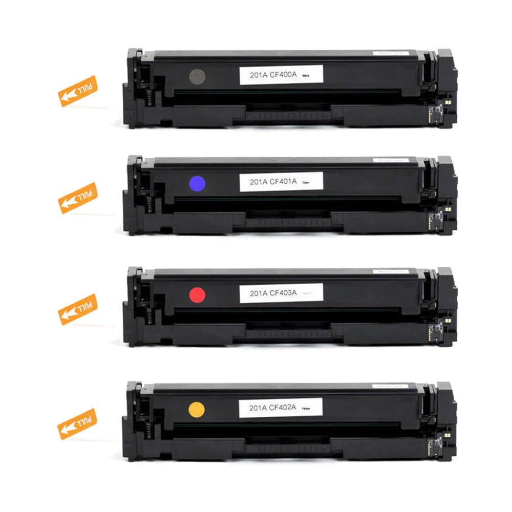 compatible hp 201a laser toner cartridge combo set bk c m y