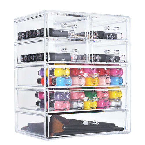 Acrylic Makeup Organizer 7 Drawer Large Compartment Beauty Cosmetic