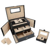 SortWise Lockable Jewelry Box Storage 20 Compartments Large
