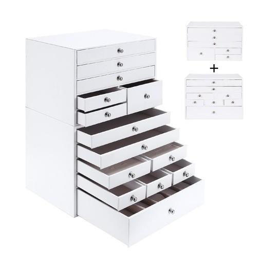 Jewelry Cabinet Chest Organizer For Bedroom Assembled 9 Layers