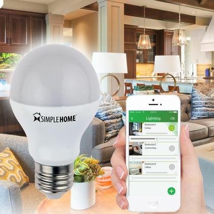 SimpleHome® XLB7-1001-WHT Dimmable Smart Wi-Fi LED Bulb
