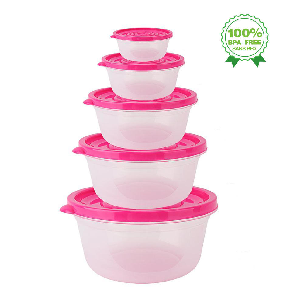 Reusable Food Storage Containers with Lids Transparent Kitchen