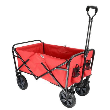 Wagon De Plage Extérieur Pliable, Caddie De Jardin Pliable Pratique - GreenWise™ - Rouge