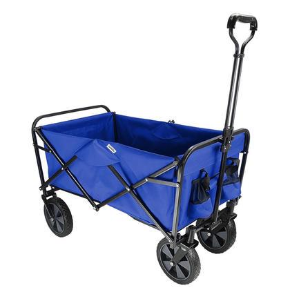 Wagon De Plage Extérieur Pliable, Caddie De Jardin Pliable Pratique - GreenWise™ - Bleu