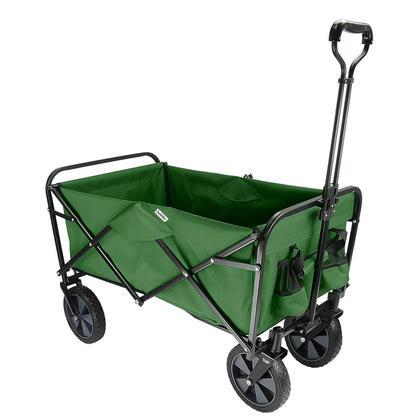 Wagon De Plage Extérieur Pliable, Caddie De Jardin Pliable Pratique - GreenWise™ - Vert