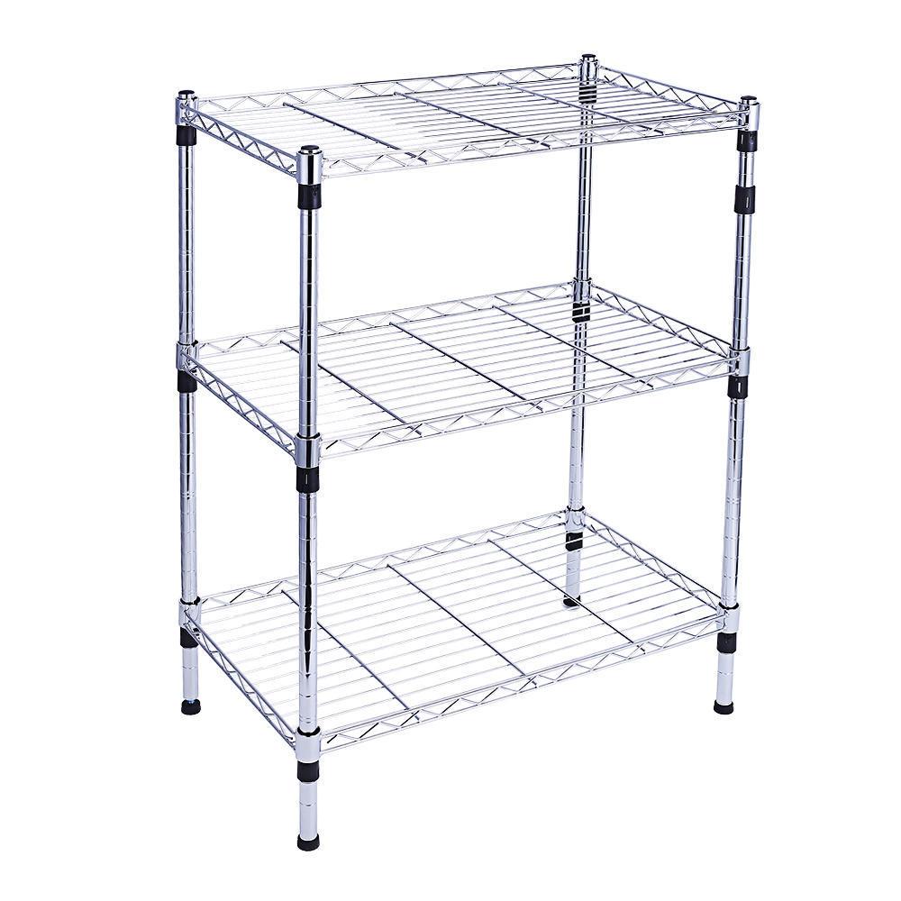 Shelving Unit Storage Organizer Shelf Rack With Wheels Or Balance ...