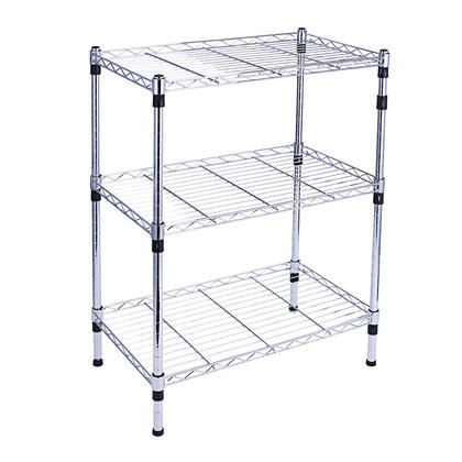 "Shelving Unit Storage 3-Shelf Adjustable With Feet Knob 23.62""L x 13.78""W x 30.31""H - SortWise™"
