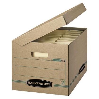 Bankers boxr enviro stortm letter legal size basic duty for Letter legal storage boxes with lids