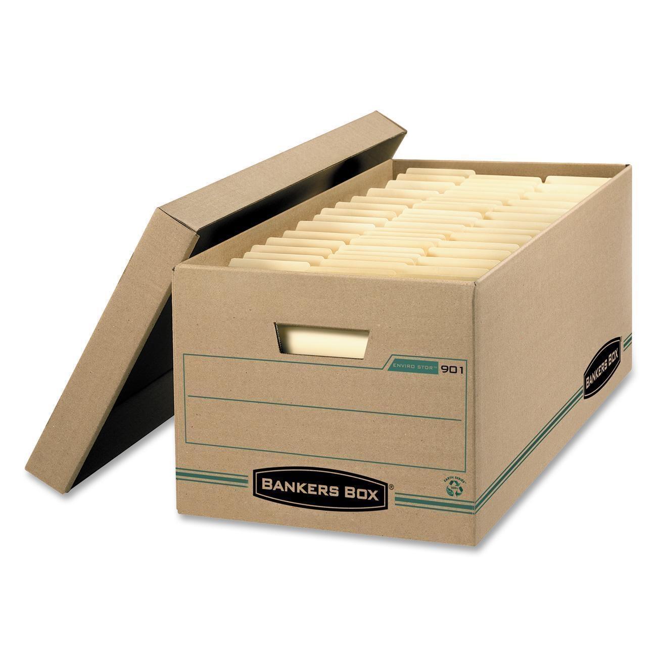Bankers Box Enviro-Stor 900 Basic-Duty Storage Box, 12|Pack