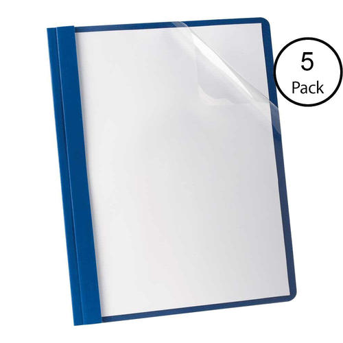 oxford letter size clear front report cover dark blue 5 covers