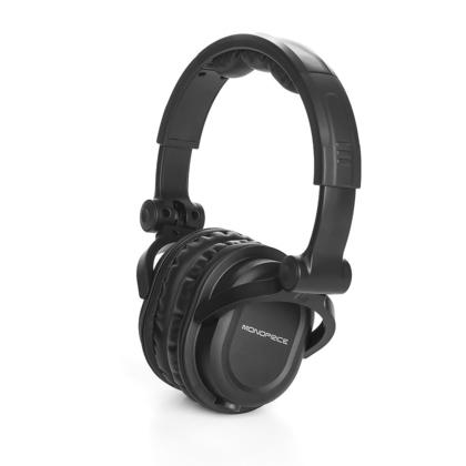 premium hi fi dj style over the ear pro headphones with mic monoprice. Black Bedroom Furniture Sets. Home Design Ideas