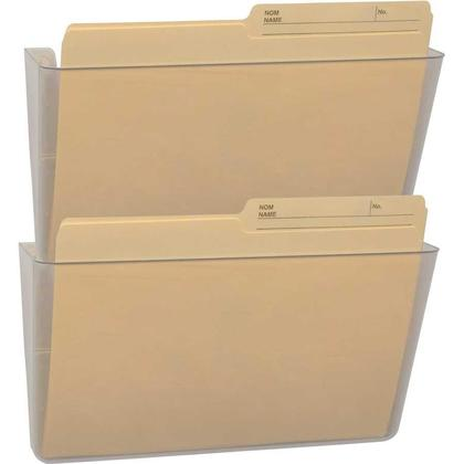 Storex® Snap and Stack Pochette murale - Claire, Set of 2 files, Format lettre
