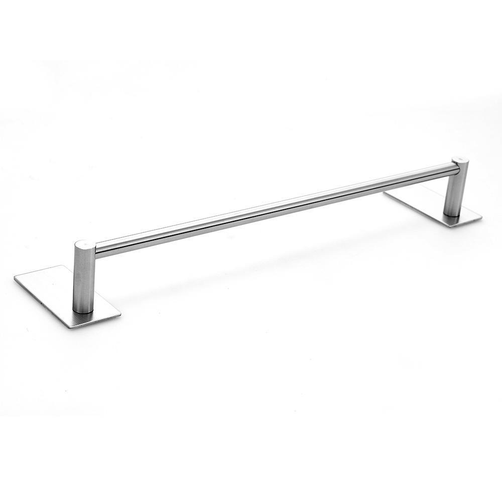 Stainless Steel Towel Bar Wall Mount Single Rack Holder Self ...