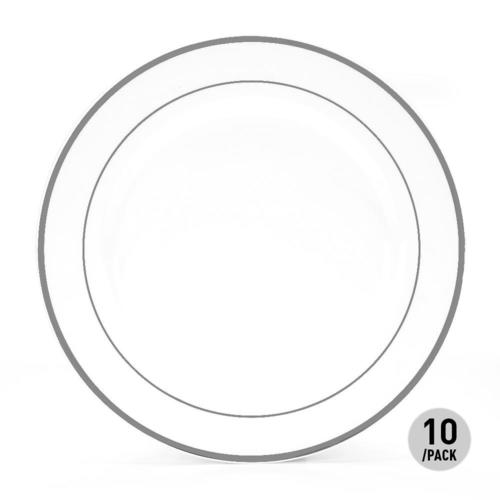 Medium plus 4dbeb livingbasics lvb gb 04 1 party suppliers premium party plastic white plates with  sc 1 st  Living.ca & Premium Plastic Party Dinner Plate 10.25
