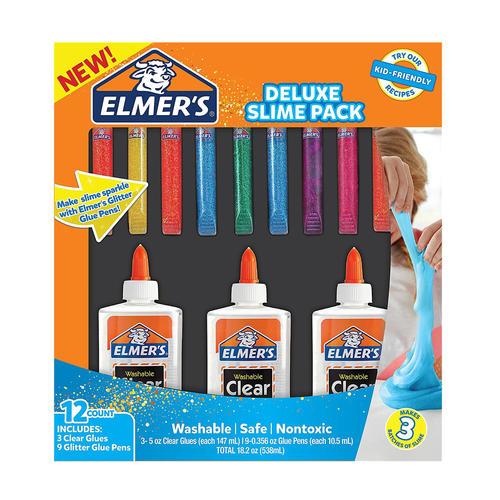 elmer s glue deluxe slime starter kit clear school glue glitter