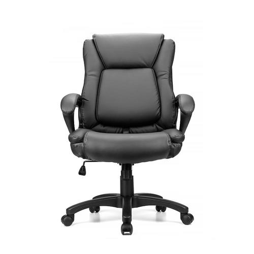 Medium plus 232fc moustache mofc h 2410l office chairs ergonomic faux leather mid back office chair  sc 1 st  123Ink.ca & Ergonomic Faux-Leather Mid Back Office Chair with Adjustable Lumbar ...