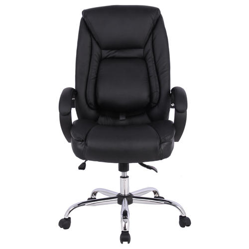 moustache ergonomic faux leather high back office chair with adjustable lumbar support. Black Bedroom Furniture Sets. Home Design Ideas