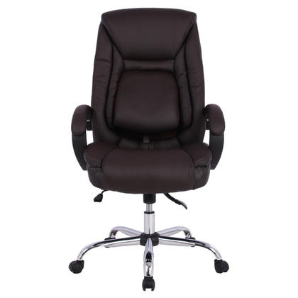 leather desk chair. Moustache® Ergonomic Faux-Leather High Back Office Chair With Adjustable Lumbar Support 123InkCartridges 123Ink.ca Canada Leather Desk