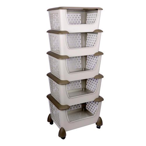 Medium Plus 1d62c Sw Sr 4605 Storage Organizer Sortwise Home Style Mobile 5  Shelf Plastic Storage