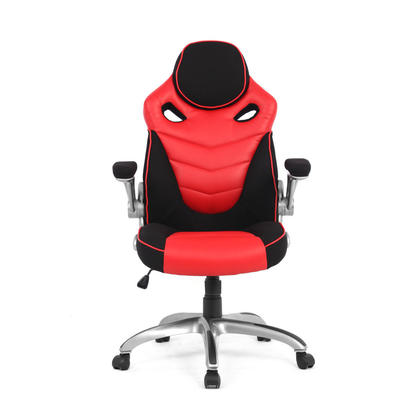 Racing Car Gaming Chair, Computer Desk Chair, Red and Black - Moustache@