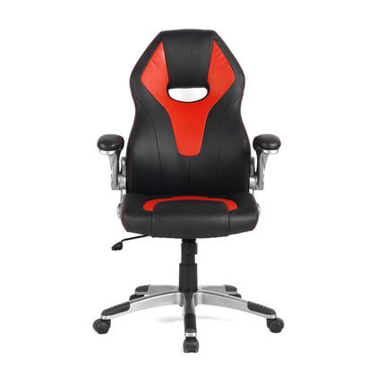 Racing Car Gaming Chair, Computer Desk Chair, Black and Red - Moustache@