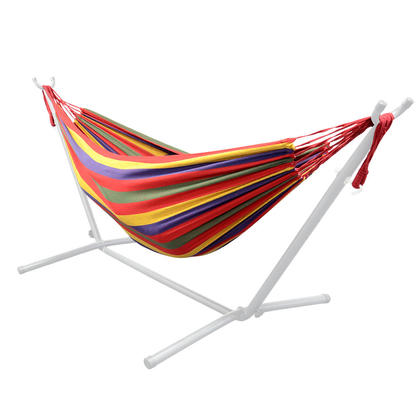 9Ft Double Hammock for Travel Beach Yard Outdoor Camping - GreenWise™ - Red
