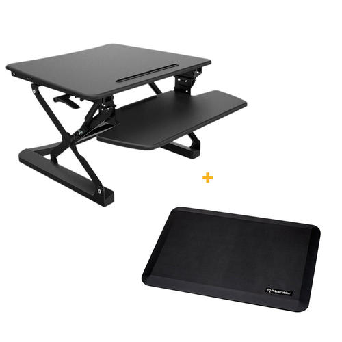 Sit Standing Height Adjustable Desk Ergo Riser Anti Fatigue