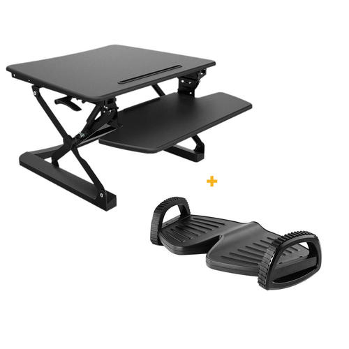 sit black stand image desk rocelco inch adjustable riser adr to canada