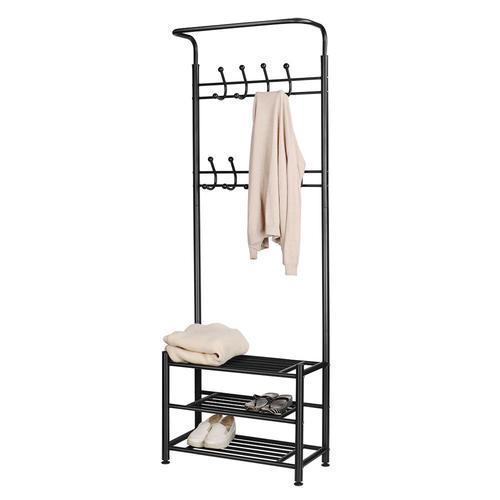 Garment Rack Storage Organizer Shelves Heavy Duty Shoe Coat Hooks Gorgeous Coat Hanger Rack