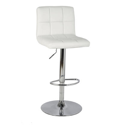 Adjustable Height Swivel Bar Stool with Bonded-Leather Seat - Moustache®