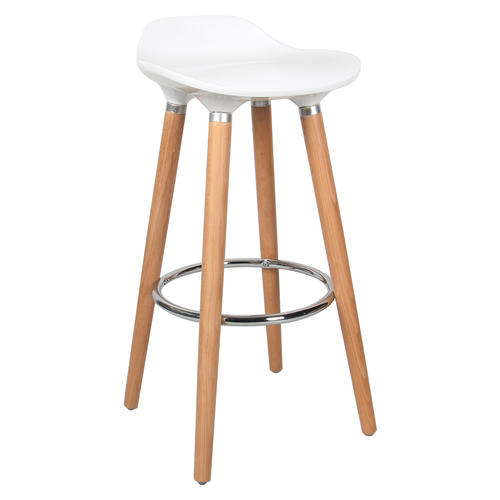 Medium Plus 8830a Moustache Mofc D631 Wt Office Chairs Contemporary Bar  Stool With Beech Wood Legs