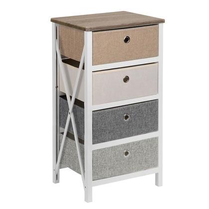Four Drawer Storage Organizer Unit For Closet,Bedroom LivingRoom Entryway MDF Pine Frame-SortWise™