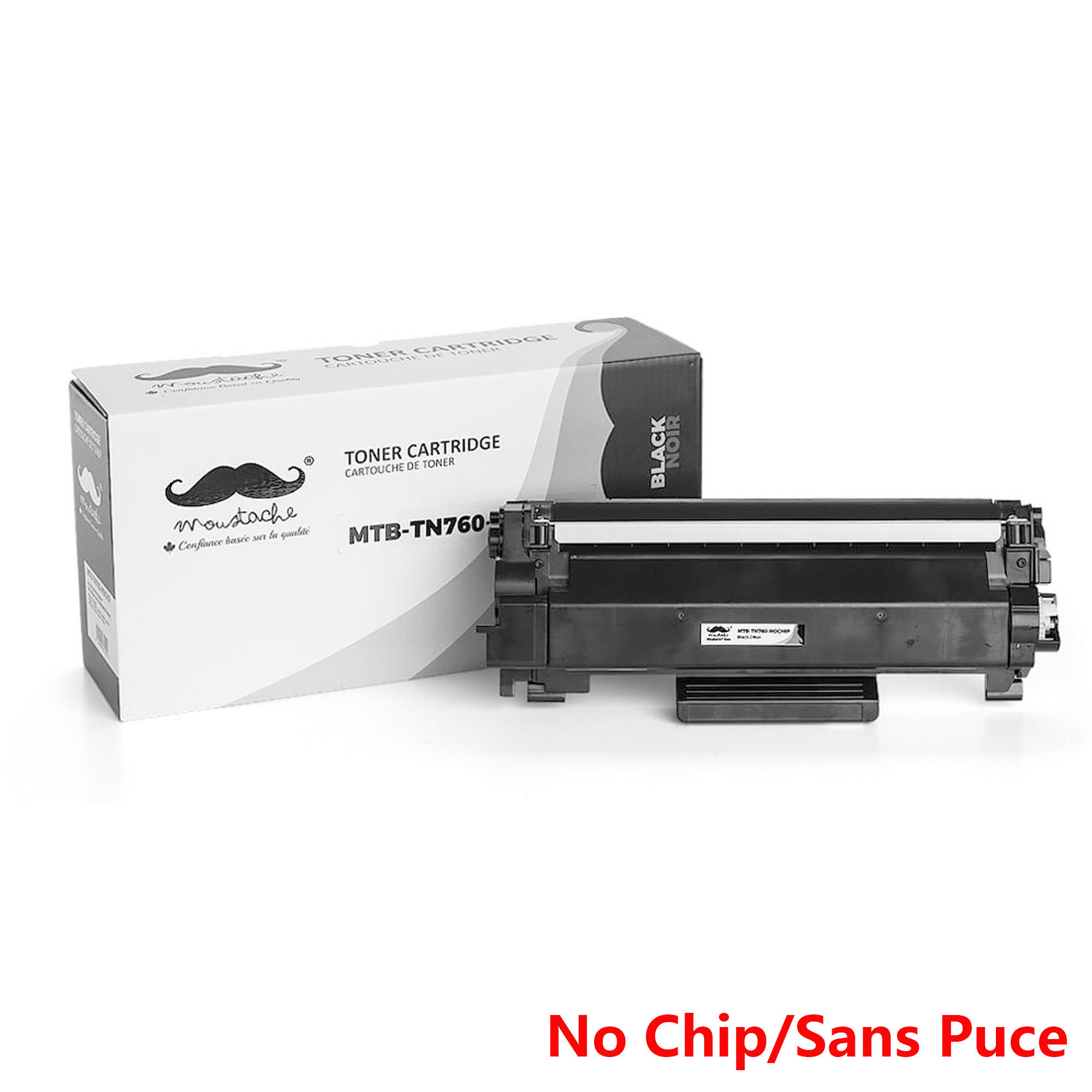 Brother TN760 Compatible Black Toner Cartridge High Yield - No Chip