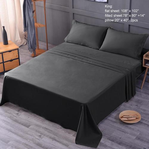 Medium Plus 8ce28 Livingbasics Lb Mfb King Sheets Pillows Cushions Bed  Sheet Set Bedding 120 Gsm