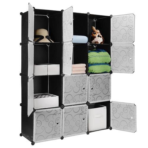 diy plastic portable wardrobe closet organizer storage shelving