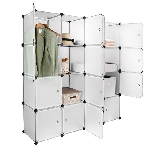 Medium Plus A67cb Sortwise Sw Al0054 16 Closet Organizers Interlocking  Plastic Wardrobe Cabinet 16 Cube Storage