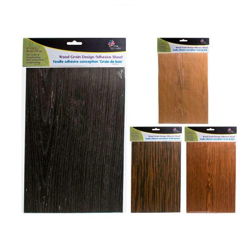 Wood Grain Design Adhesive Decorative Sheet For Art Craft 7 75 X