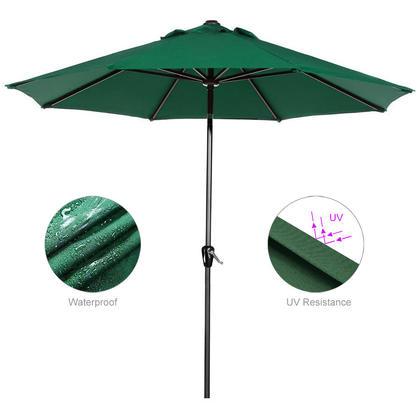9 FT Outdoor Patio Umbrella for Garden and Event Parasol Sun Sunshade - GreenWise™ - Green