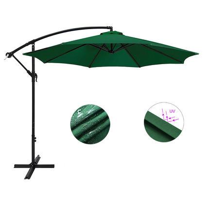 Parasol de patio de 10 pieds avec parasol extérieur en forme de banane, VERT