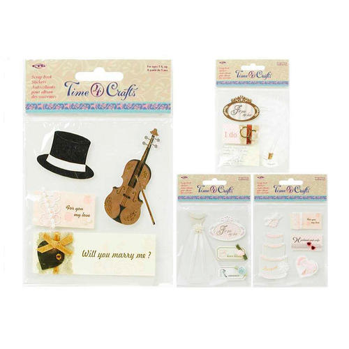 Wedding Self Adhesive Scrapbook Stickers Random Style Time 4