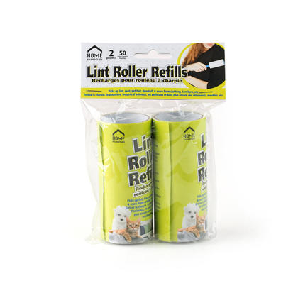 Lint Roller Refills Extra Sticky Pet Hair Clothes Remover, 25 Sheets of Each Roll 2pcs/pack
