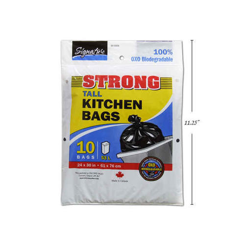 garbage bags tall kitchen trash bags strong black home office 24x30 rh living ca