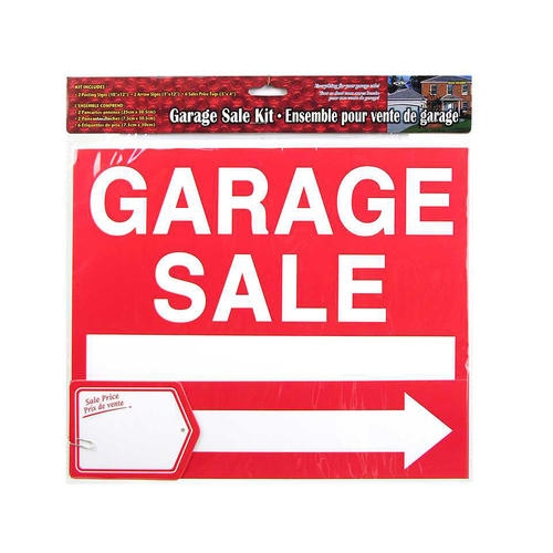 Sign Garage Sale Kit 2 Signs Arrows 6 Price Tags For Yard Home Street 10x12 1Pc