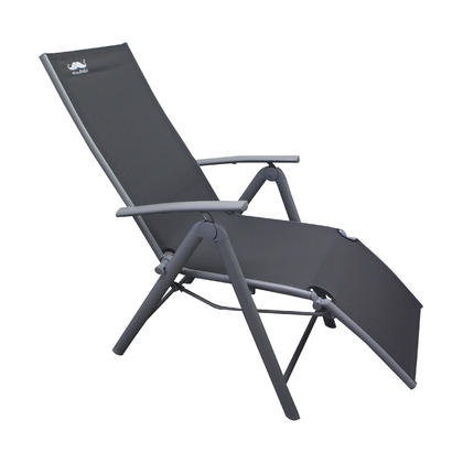 Chaise Patio Zero Gravity,  Camping Relax Chair,  Patio Garden Chair,  Gray - Moustache@ - 2/Pack