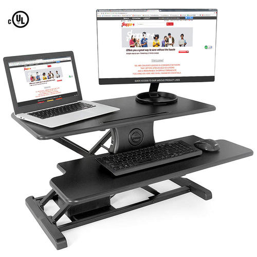 Electric Height Adjustable Sit Stand Desk Converter Primecables