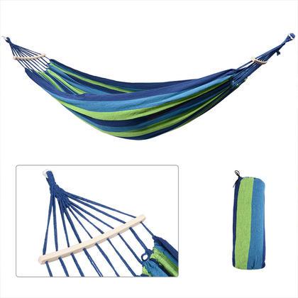 Lit de plage en toile de coton pour hamac Camping Outdoor avec barre d'écartement - GreenWise ®