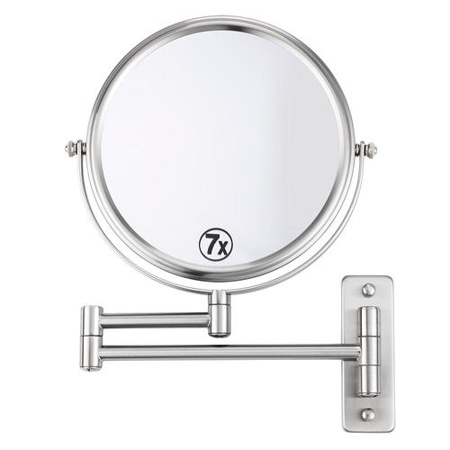 wall mounted makeup mirror. 8 Inch Wall Mounted Makeup Mirror Bathroom - 1X/7X Magnification U