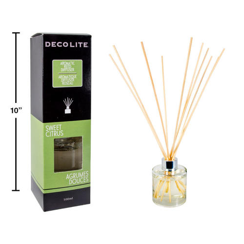 scented reed diffuser for aromatherapy home air freshener 100ml